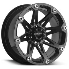 "Ballistic Off-Road™ Style 814 ""Jester"" Wheel in Flat Black for 07-up Jeep® Wrangler & Wrangler Unlimited JK"