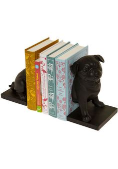 Canine Companion Bookends in Pug