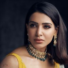 Samantha Hot HD Photos & Wallpapers for mobile Samantha Images, Samantha Ruth, Fashion Bracelets, Fashion Necklace, Charcoal Teeth Whitening, Bollywood Wedding, Lovely Eyes, Celebrity Jewelry, South Actress
