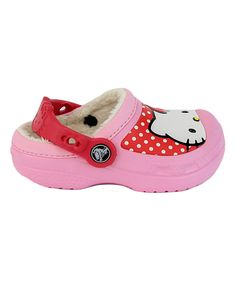 Look what I found on #zulily! Crocs Carnation Hello Kitty® Dots Lined Clog by Crocs #zulilyfinds