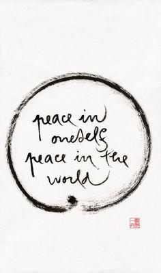 welcometoinnocence:    peace in oneself