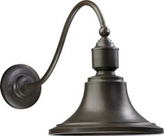 "Quorum  - $131 -  1-Light Outdoor Wall Lantern Oiled Bronze 761-86 - Dimensions: 16.75"" Height x 12.5"" Width x 25.5"" Depth"