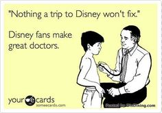 This is true because the doctor I had when I lived in Florida was a big disney fan, and when I was like 5 or something, he wore disney ties. And when he looked in my ears, he said he saw Cinderella!!