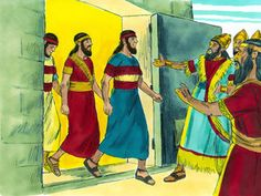 So Nebuchadnezzar went up to the door of the blazing furnace and called out, 'Shadrach! Meshach! Abednego! Servants of the Supreme God! Come out!' And they came out at once.All the princes, governors, and other officials gathered to look at the three men, who had not been harmed by the fire. Their hair was not singed, their clothes were not burned, and there was no smell of smoke on them. – Slide 10