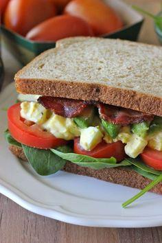 Egg Salad BLTA Sandwich.