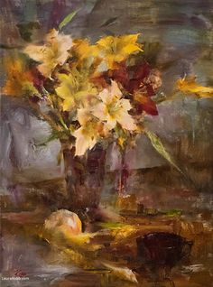 Day Lilies by Laura Robb Oil ~ 24 x 18