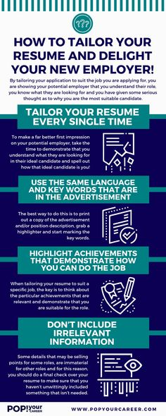 Do you tailor your resume for every job you apply for? In this post, I show you exactly how to do it. Job Resume, Resume Tips, Resume Examples, Resume Skills, Cover Letter Help, Cover Letter For Resume, Cover Letters, Job Interview Preparation, Job Interview Tips