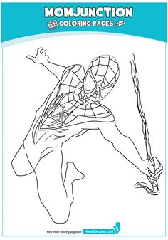 Miles Morales Coloring Page Lovely 50 Wonderful Spiderman Coloring Pages Your toddler Will Love Bat Coloring Pages, Castle Coloring Page, Avengers Coloring Pages, Spiderman Coloring, Superhero Coloring, Marvel Coloring, School Coloring Pages, Coloring Pages For Kids, Coloring Books