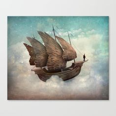"""""""The Flying Merchant"""" Digital Art by Christian Schloe posters, art prints, canvas prints, greeting cards or gallery prints. Find more Digital Art art prints and posters in the ARTFLAKES shop. Wassily Kandinsky, The Pirates, Max Ernst, Magic Realism, Surrealism Painting, Magritte, Art Plastique, Surreal Art, Love Art"""
