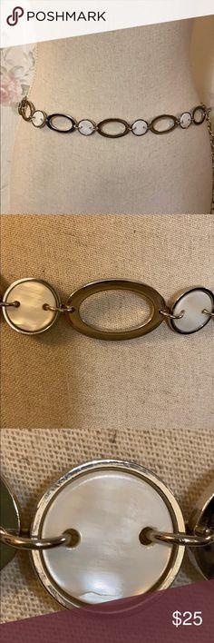 MONIQUE Women Casual Fashion Ladies Metal Oval Circle Chain Adjustable 39 Belt