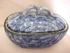 b. antigo - caixa ou biscoiteira em porcelana mauá trenzinho
