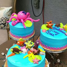 Under the sea cake for an under the sea baby shower.