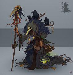 Witch, Alexander Trufanov on ArtStation at https://www.artstation.com/artwork/WPyK3