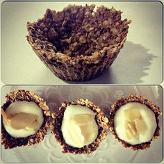 Tarta de granola, yogurt y manzana para merendar sano y divino