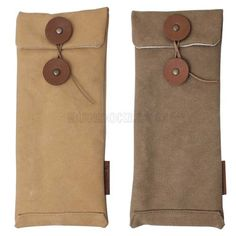 Envelope pencil case. Made with canvas (tannin staining). W87mm×H200mm.