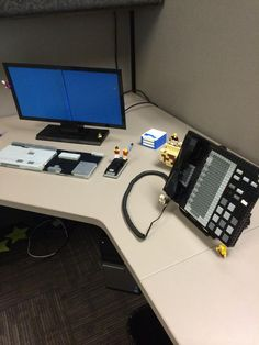 Employee returns from vacation and finds his desk has been LEGO-fied