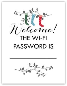 FREE Printable WiFi Password Art For Guests Perfect To Hang In A Guest Bedroom Or