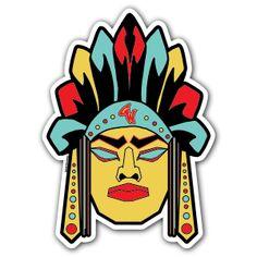 Geronimo #theartistgrimm #grimm #stickers #slaps #stickerartist #stickerart #geronimo #grimmwear #brand #indian #warrior #legendary #hero