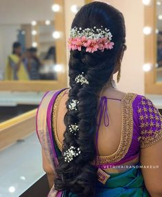 wedding hair accessories half up Bridal Hairstyle Indian Wedding, South Indian Bride Hairstyle, Bridal Hair Buns, Bridal Hairdo, Braided Hairstyles For Wedding, Bollywood Hairstyles, Saree Hairstyles, Indian Hairstyles, Bride Hairstyles