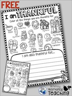 This free project is all about gratitude!How do you teach gratitude in your classroom? This differentiated activity can enhance your discussions about recognizing all of the things we have to be thankful for. Sometimes it can be difficult for students to Kindergarten Writing, Kindergarten Classroom, Writing Activities, Classroom Activities, Teaching Resources, Counseling Activities, Classroom Freebies, Inspirational Artwork, Travel Picture