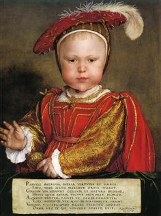 Portrait of Edward, Prince of Wales  --  Hans Holbein the Younger (1497 - 1543)