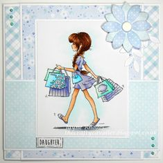 LOTV are launching new digis and simply print images at the beginning of April. I can't wait for you to see them - I think it's my favourit. Create Birthday Card, Girl Birthday Cards, Birthday Cards For Women, Boy Cards, Cute Cards, Candy Cards, Hand Stamped Jewelry, Digi Stamps, Cute Characters
