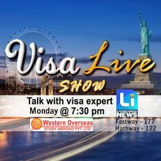"""Must Watch!!!!! Live T.V Show """"#Visa #Helpline"""" By Mr. Pardeep Balyan Students can ask question by phone & will get answer live. Today at 7:30 PM on Living India News."""