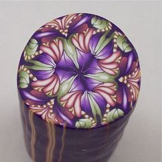 Kaleidoscope cane Polymer Clay Cane by PolymerClayBarn on Etsy.