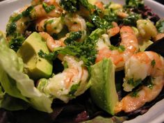 Something about this shrimp and avocado salad screams summer, refreshing and satisfying all at the same time.  And it tastes better the longer you let the shrimp marinade, so it can be made ahead.