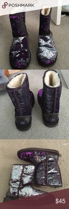 Short uggs Worn a couple times. Great condition. 8/10 for condition. Size 9 UGG Shoes Winter & Rain Boots