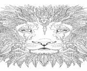 Print advanced lion adult coloring pages