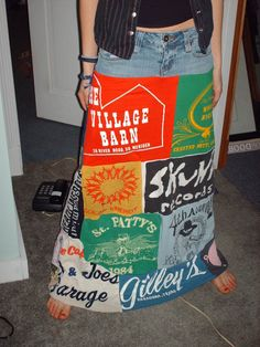 Love this skirt from t-shirts.  I would love to have enough vintage tees to make one myself.
