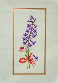 Watercolor reproduction of Ali Üsküdari's flower painting