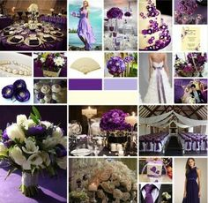 Purple and Ivory Wedding