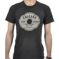 Chicago Drum Exchange T-Shirt Tri-Black