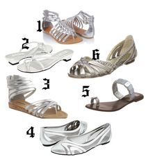 Can't bear the thought of wearing heels to prom? Well, we know the pain! Match your ensemble with a pair of flats! You'll be ready to dance all night! Examples above :)