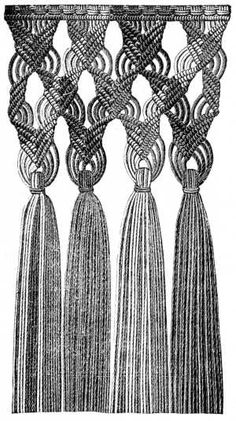 FIG. 585. MACRAMÉ FRINGE. Try to see the tutorial