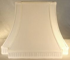 """Sharp Inverted Corners Pleated Gallery Rectangular Silk Lamp Shade 6""""/9""""x9""""/16.5""""x12.5"""" (2 Left To Sell)"""