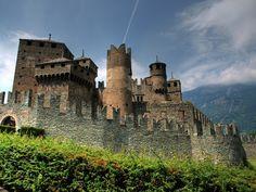 Castle in Aosta, Italy