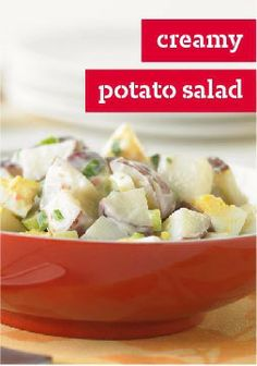 Creamy Potato Salad – Don't tell your mom, but you've found your own potato salad recipe. This better-for-you version has a little more zing, with just a touch of mustard.