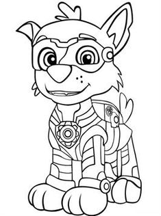 print paw patrol mighty pups for coloring pages