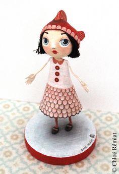 Damsel carp Koï OOAK doll by chloeremiat on Etsy