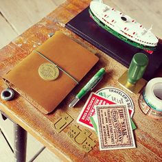 Traveler's Notebook Star Edition. The Passport Size 5th Anniversary #travelersnotebook #midori #stationery #leatherjournal #journal #stamp #pen #traveling #travel by Rësor Shop, via Flickr