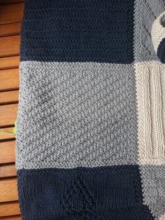 Comme promis, voici un billet décrivant plus ou moins en détail chaque carré réalisé sur la couverture! Pour un tuto très détaillé d'un car... Cotton Crochet, Crochet Motif, Knit Crochet, Manta Crochet, Square Blanket, Baby Family, Knitted Blankets, Crochet Projects, Needlework