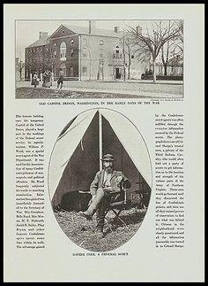 Daniel Cole Federal Scout Old Capitol Prison Union Army Civil War Print