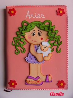 a dozen different adorable little girl felt bookcovers w/patterns NOT in English Foam Crafts, Diy And Crafts, Applique, Cute Little Girls, Nice To Meet, Paper Piecing, Aries, Puppets, Diy Design