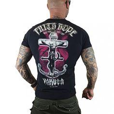 Yakuza Original Herren Faith & Hope T-Shirt – Schwarz – Top % Sales
