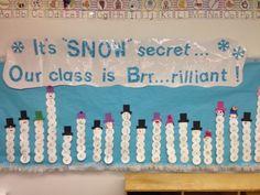Snowman name bulletin board