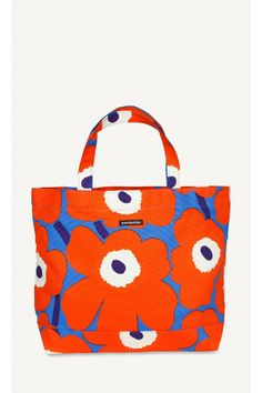 A big canvas shopping bag with sturdy handles . Color Meanings, Marimekko, Fashion Sewing, Surface Pattern Design, Textile Design, Color Mixing, Street Styles, Printing On Fabric, Purses And Bags