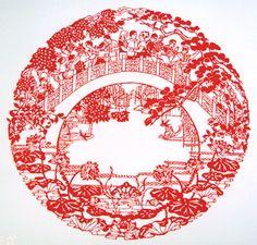 佛山剪纸 Chinese Culture, Chinese Art, Chinese Paper Cutting, Paper Cut Design, Papercutting, Wire Art, Japanese Style, Tofu, Stencils